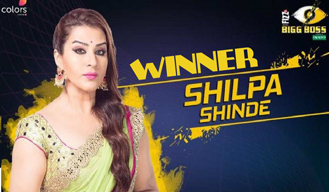 Shilpa shinde crowned as the winner of