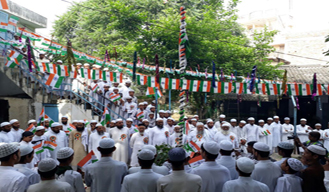 In UP students of Islamic institute hosts flag on Independence day
