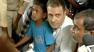 Caste Clashes : Rahul Gandhi visits violence hit Saharanpur, interacts with locals